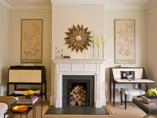 Simple Vintage Fireplace Mantel
