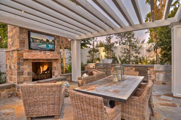 outdoor wood fireplace mantel