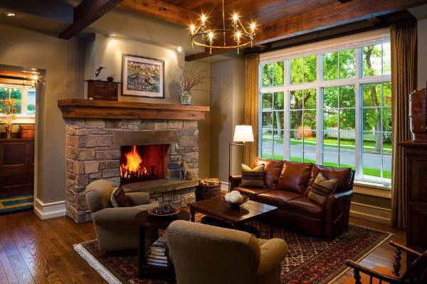 Traditional Wood Fireplace Mantel