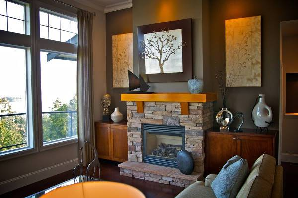 small modern fireplace mantel