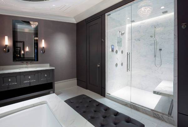 contemporary shower door design