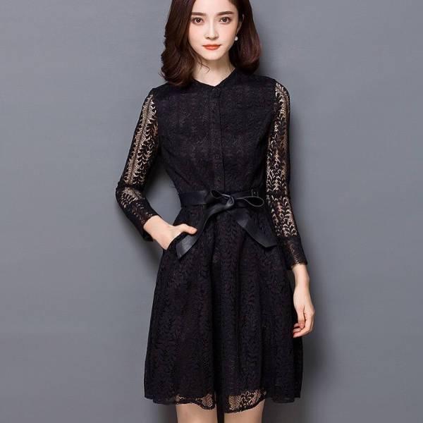 formal black cocktail dress