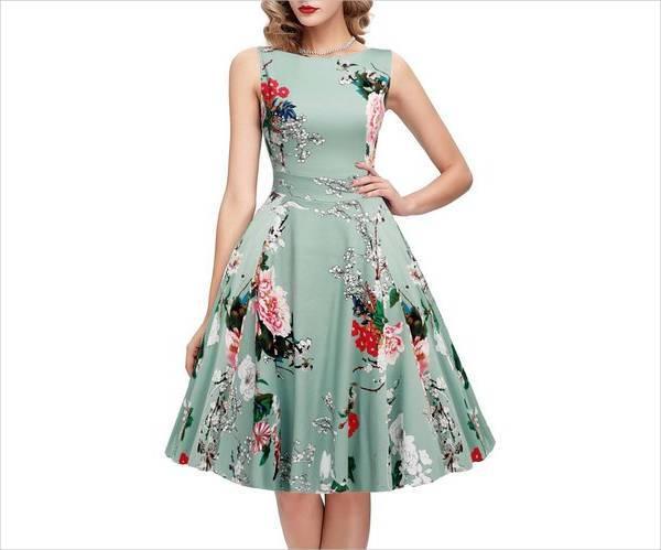 spring floral cocktail dress