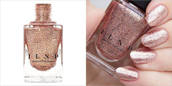 ilnp boutique nail lacquer in rose gold holographic