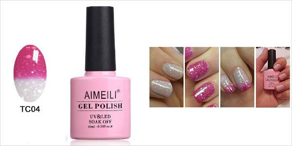 aimeili temperature color changing chameleon gel nail polish