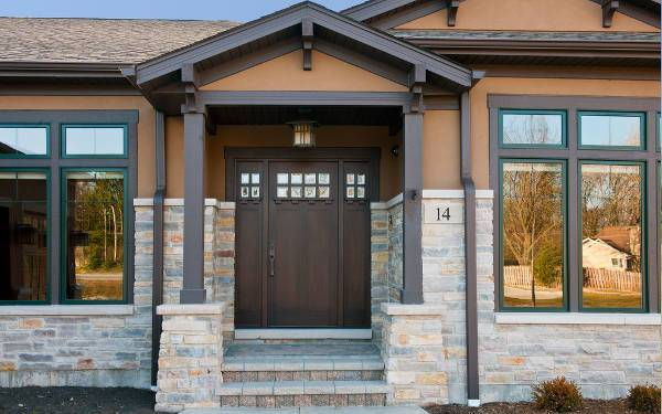 solid wood front door design