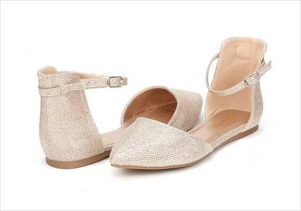 ballet flat weding shoes