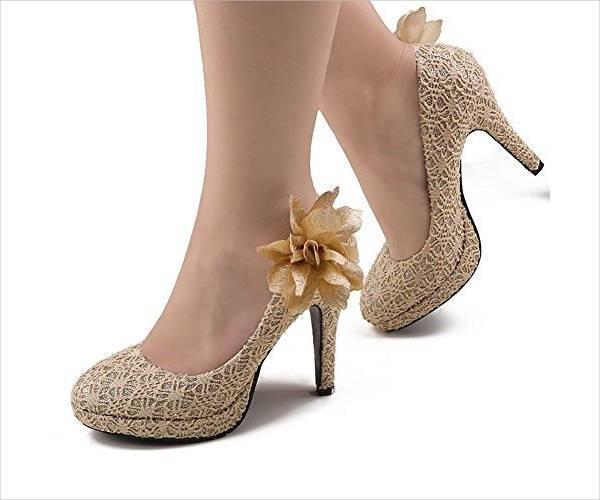 vintage high heel wedding shoes
