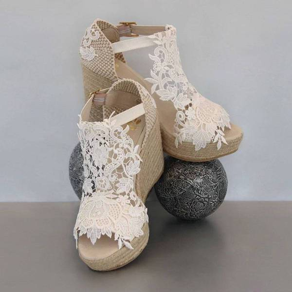 cool wedding wedge shoes