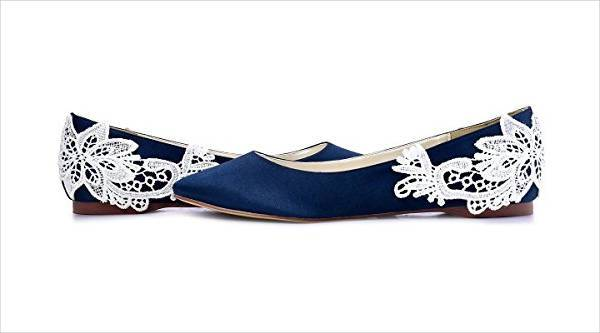 blue wedding guest shoes