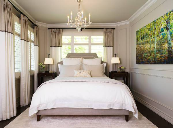 small master bedroom chandelier