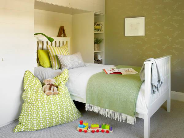 contemporary small kids bedroom