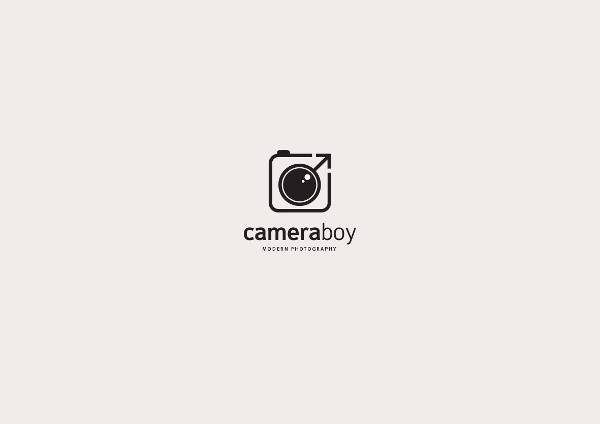 simple professional photography logo