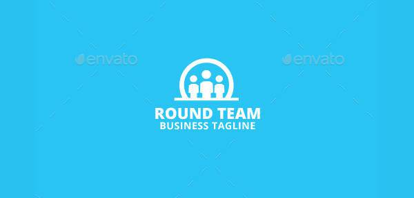 professional round team logo