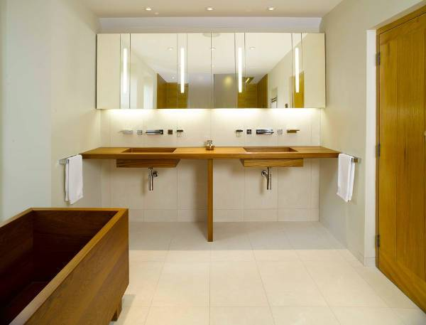 modern wooden sink design