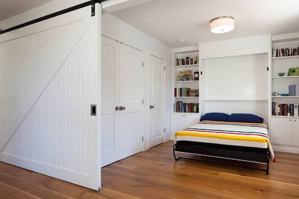 white bedroom sliding door