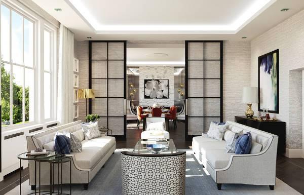 contemporary sliding door for living room