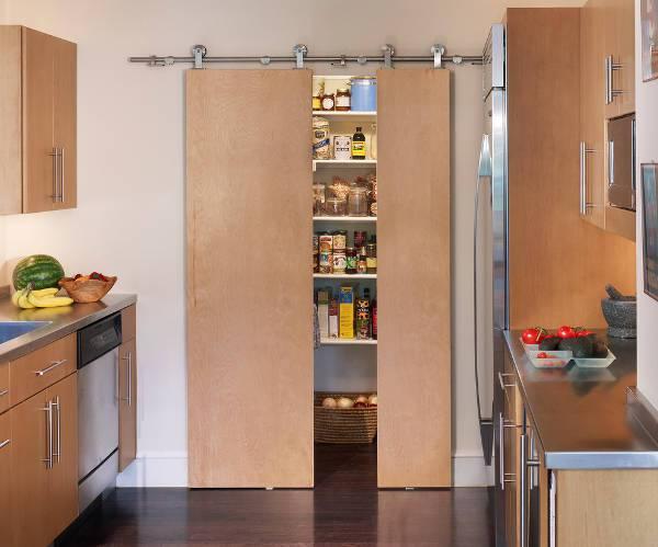 sliding kitchen pantry door