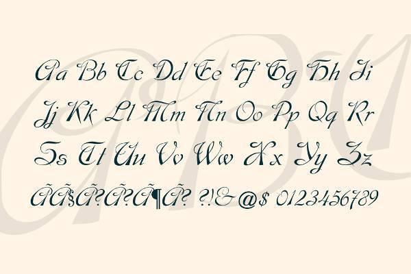 Cursive Script Lettering Font