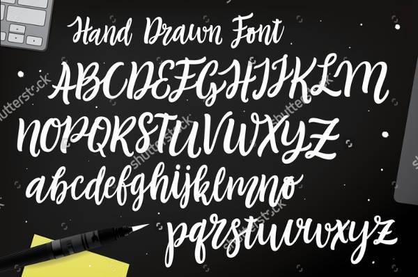 hand lettering script font