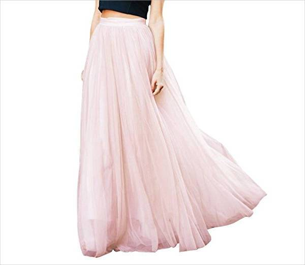 tulle maxi wedding skirt