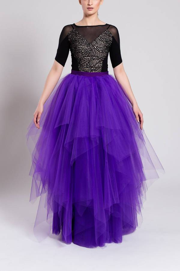multi layered tulle skirt