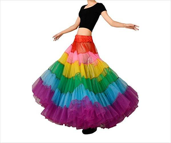 beautiful rainbow tulle skirt