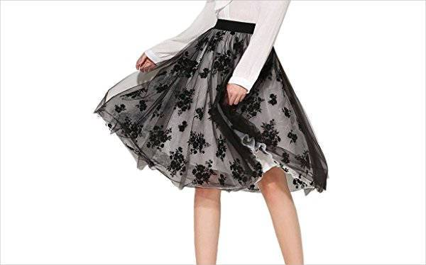 simple floral tulle skirt