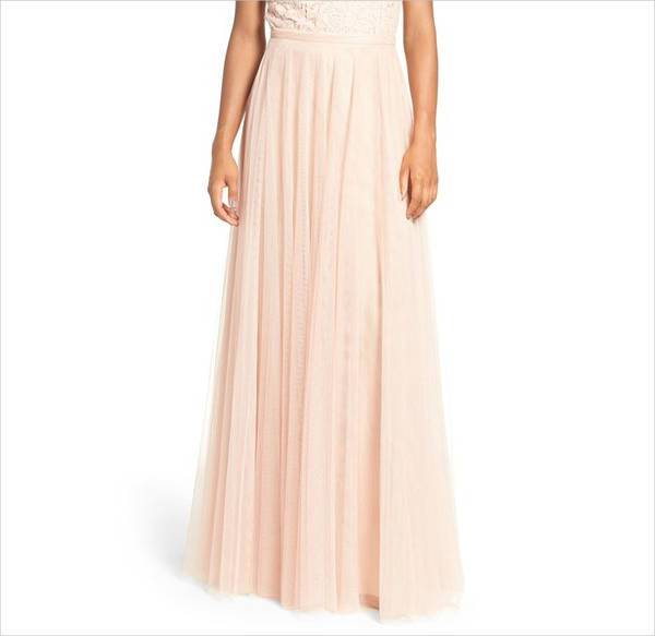 formal tulle a line skirt