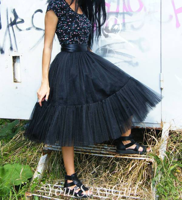 best gothic tulle skirt