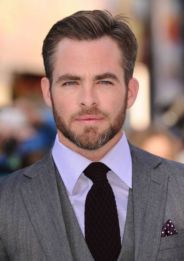 chris pine short side haircut for men