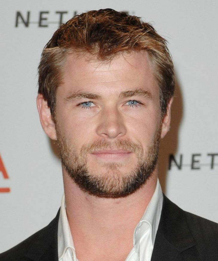 chris hemsworth short hairstyle for round face