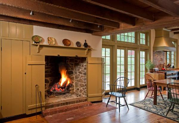 cool wood burning fireplace door