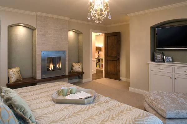 small bedroom fireplace door