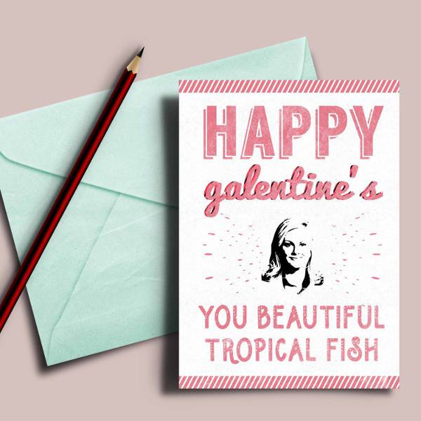 printable galentines card with leslie knope quote