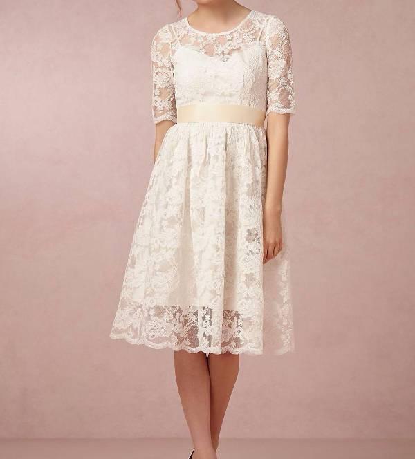 awesome short white wedding dress
