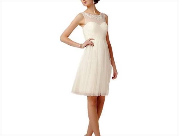 short tulle wedding guest dress