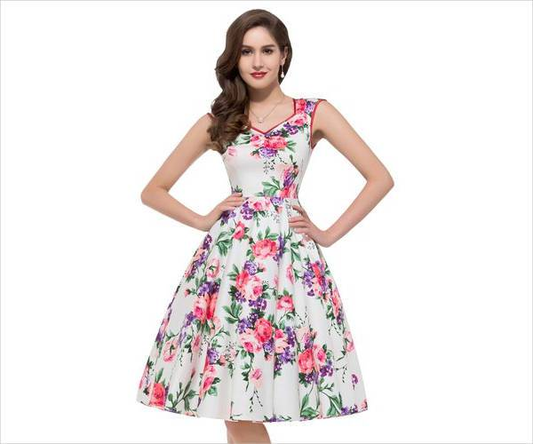 floral tea party dress