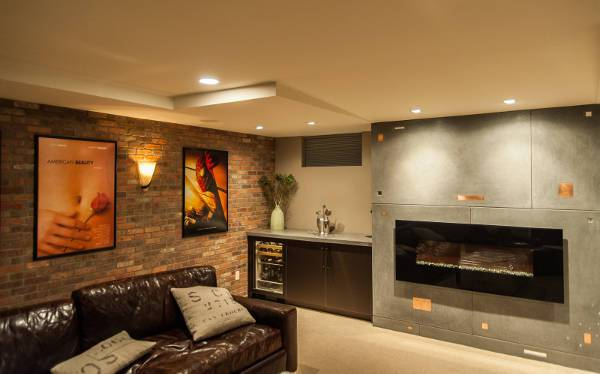creatively hued man cave