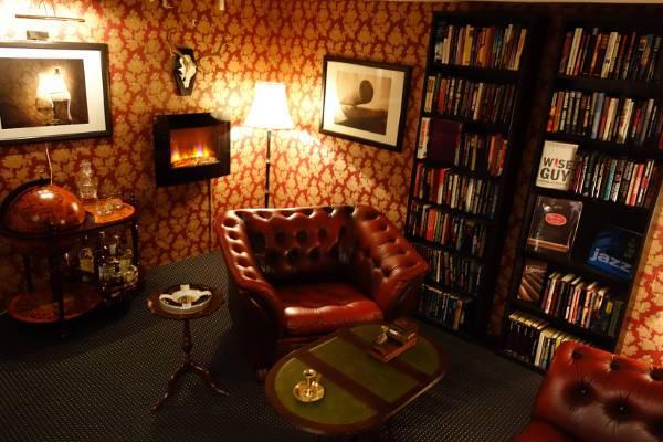 literary themed man cave