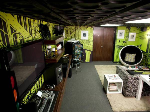 gamer style man cave
