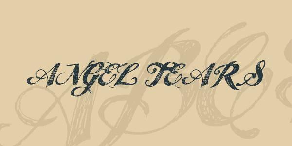 modern script sketched font