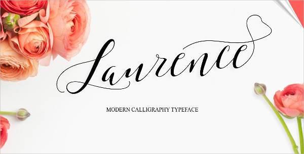 elegant script typeface font