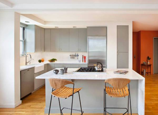 modern white countertop design