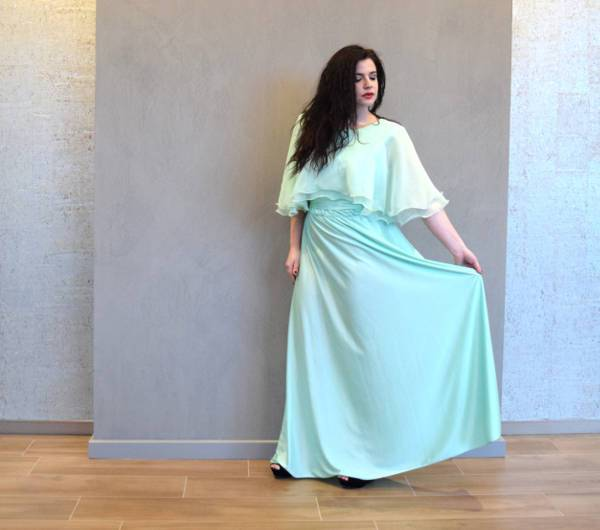 vintage maxi bridesmaid dress