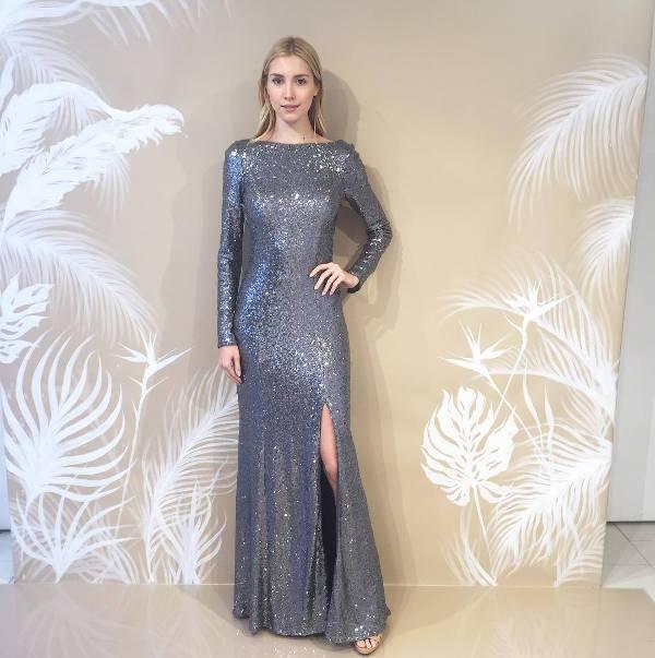 long sleeve sequin bridesmaid dress
