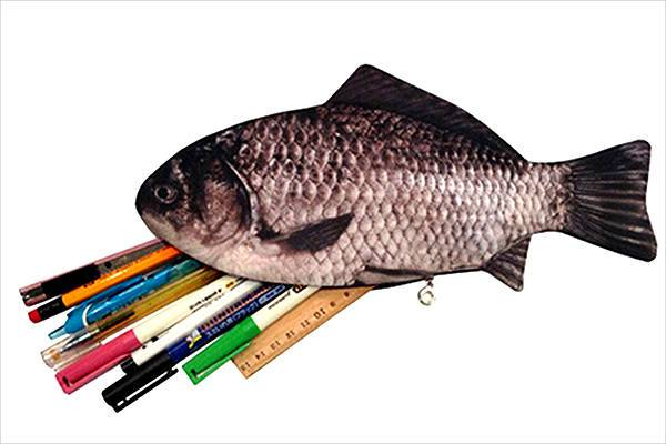 fish pencil wallet