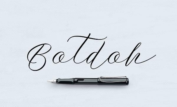 Vintage Handwriting Script Font