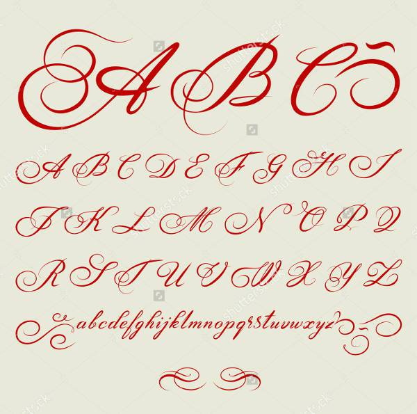 Old Handwriting Vector Font