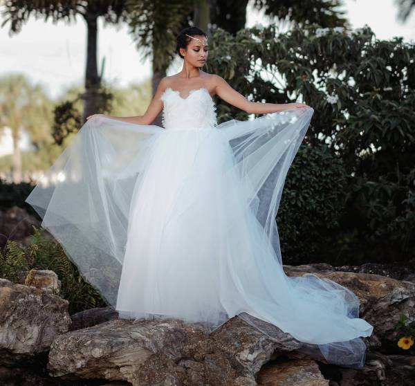 white quinceanera wedding dress
